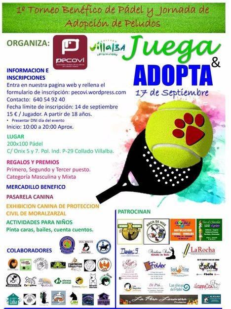 """""""Juega & Adopta"""", primer torneo benéfico de pádel y jornada de adopción de peludos"""