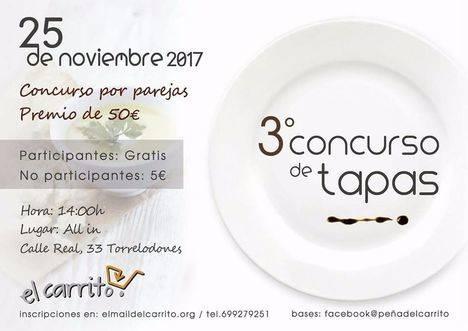 La Peña El Carrito celebra su III Concurso de Tapas por parejas