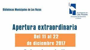 Apertura extraordinaria de las bibliotecas roceñas en diciembre