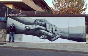 'Solidarity', la última intervención artística en las calles de Torrelodones