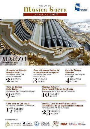 """La Zarzuela """"Gigantes y cabezudos"""" y un ciclo de Música Sacra abren la programación cultural del mes de marzo"""