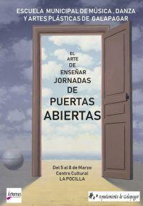 Jornada de puertas abiertas en la EMMyD y Artes Plásticas de Galapagar