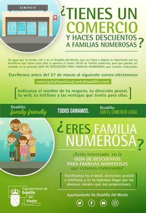 Guía de comercios que ofrecen descuentos a familias numerosas