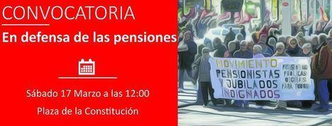 Concentración en defensa de las pensiones el sábado a mediodía en Torrelodones