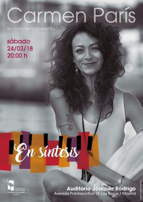 """Carmen París presenta """"En síntesis"""" en el Auditorio Joaquín Rodrigo"""