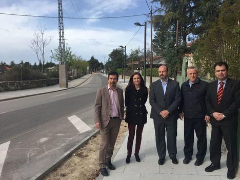 Pedro Rollán visita las obras del Programa de Inversión Regional en Hoyo de Manzanares