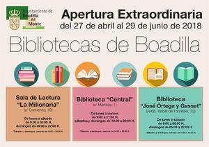 Apertura extraordinaria de las bibliotecas de Boadilla entre el 27 de abril y el 29 de junio