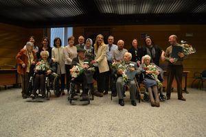 Homenaje a diez vecinos centenarios de Collado Villalba