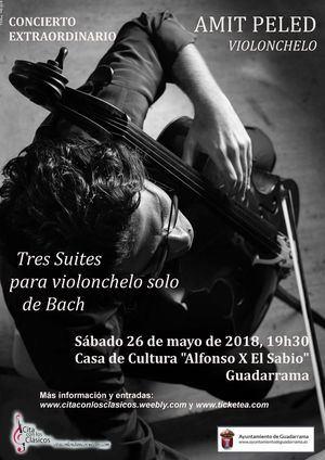 El violonchelista Amit Peled en concierto dentro del programa 'Cita con los Clásicos'