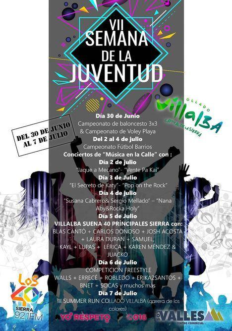 Collado Villalba celebra su VII Semana de la Juventud