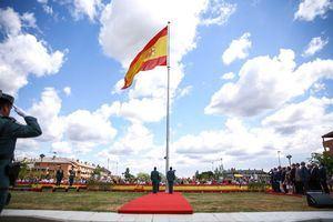 Compromiso con las Víctimas del Terrorismo con el izado de una bandera española