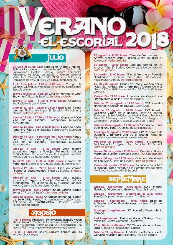 Verano de ocio cultural cargado de actividades en El Escorial