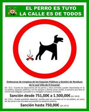 Campaña de información de limpieza en vía pública para propietarios de animales