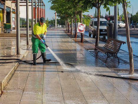 Continúan las limpiezas especiales en Boadilla