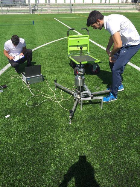 Pruebas de homologación del campo de fútbol de El Escorial