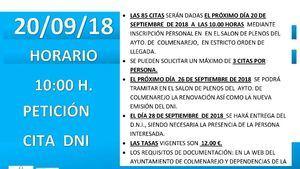 Nueva oportunidad para obtener o renovar el DNI en Colmenarejo
