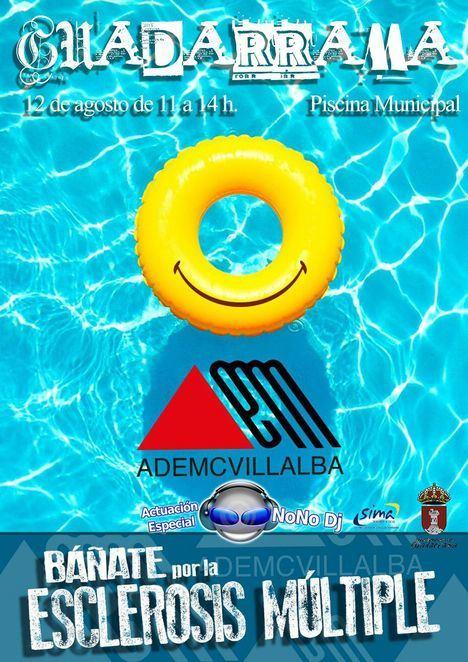 Jornada solidaria por la esclerosis múltiple en la piscina municipal de Guadarrama