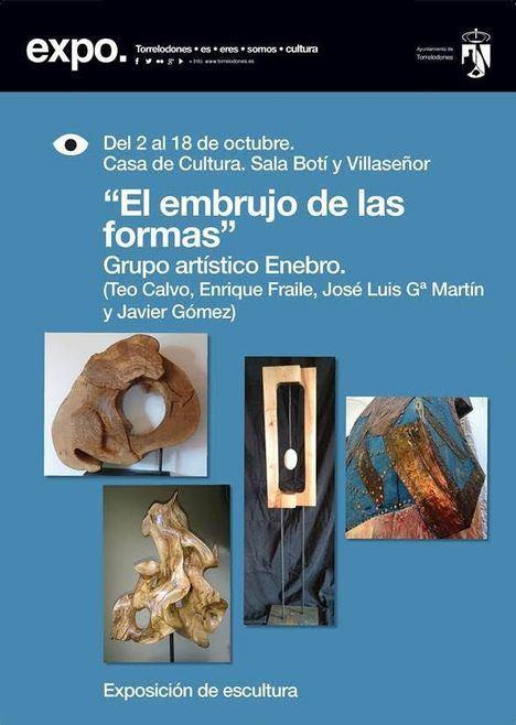 El Grupo Enebro muestra sus esculturas en la Casa de Cultura de Torrelodones