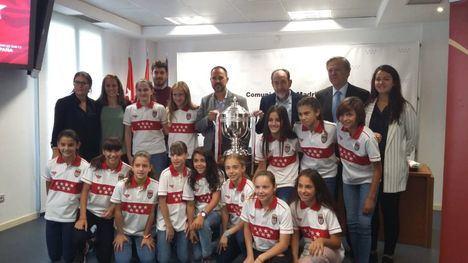 Homenaje a las campeonas de Fútbol Sala Femenino