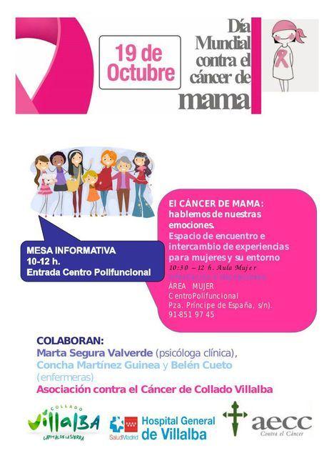 Jornada informativa con motivo del Día contra el cáncer de mama