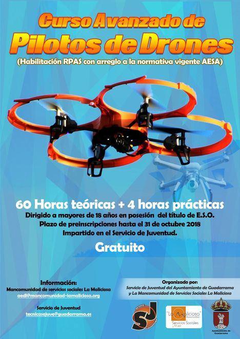 El Ayuntamiento organiza el primer curso de pilotaje de drones