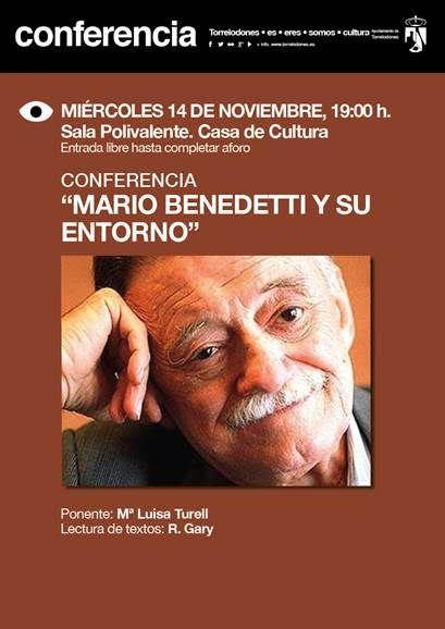La obra de Mario Benedetti, en la Casa de Cultura