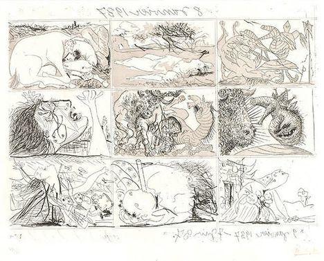 Los grabados 'Sueño y mentira de Franco' de Picasso, en Buitrago de Lozoya