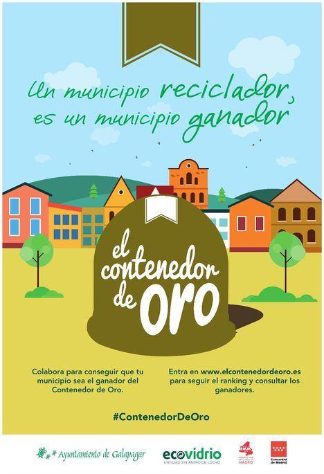 Galapagar aumentó en diciembre el reciclaje de vidrio en un 243 por ciento