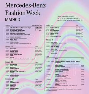 Calendario de desfiles y actividades de la MBFWM