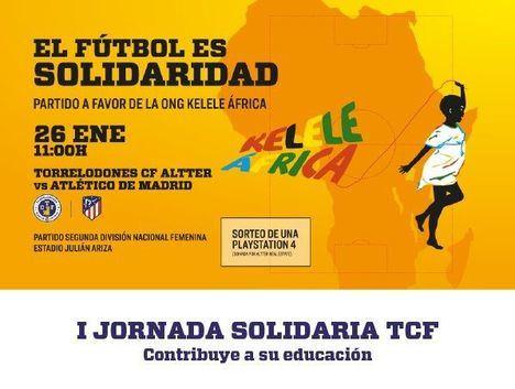 El Torrelodones CF Altter y el Atlético de Madrid se enfrentan por una buena causa