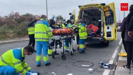 Tres heridos en un atropello múltiple en un paso de peatones de la Avenida del Noroeste de Las Rozas