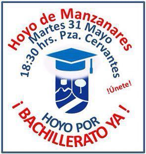 Movilización por el Bachillerato en Hoyo