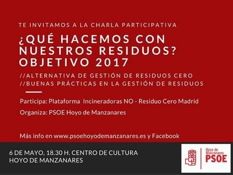 El PSOE de Hoyo organiza una charla participativa sobre la gestión de residuos