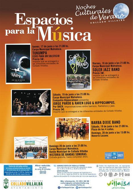 Collado Villalba abre varios 'Espacios para la Música' del 15 al 20 de junio
