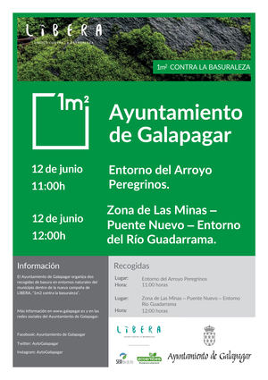 Galapagar organiza dos recogidas de basura en entornos naturales dentro de la campaña LIBERA