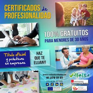 Aún quedan plazas para obtener el Certificado de Profesionalidad de Atención Sociosanitaria en Collado Villalba