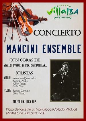 La Plaza de Toros de Collado Villalba ofrece un concierto gratuito de música clásica a cargo del Mancini Ensemble