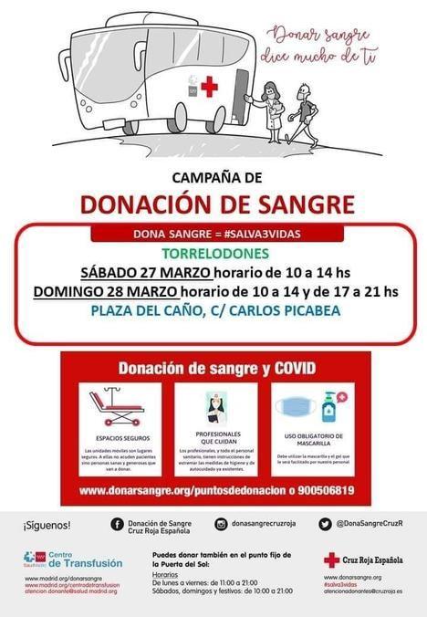 Una unidad móvil de donación de sangre estará en Torrelodones durante este fin de semana