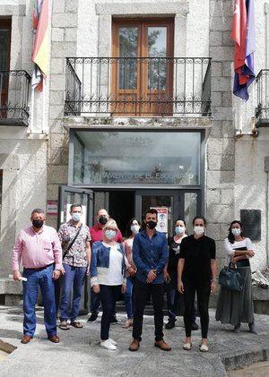 Los nueve concejales de El Escorial que han apoyado la moción de censura