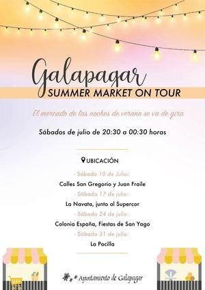 El mercado de verano de Galapagar estará de 'gira' los sábados de julio por el municipio