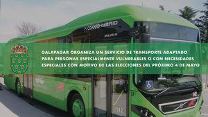 Galapagar ofrece un servicio de transporte adaptado para personas vulnerables el próximo 4M