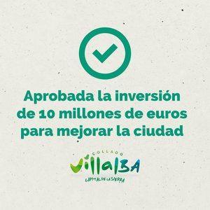 El Ejecutivo de Collado Villalba saca adelante en Pleno todas las inversiones previstas para gastar 10,5 millones del Remanente