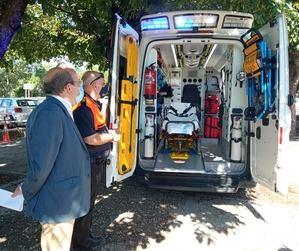 El Ayuntamiento de El Escorial incorpora una nueva ambulancia a la flota de Protección Civil