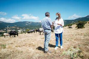 Pilar Martín pide desde Cercedilla al Gobierno central que no ignore las necesidades del campo y el sector ganadero