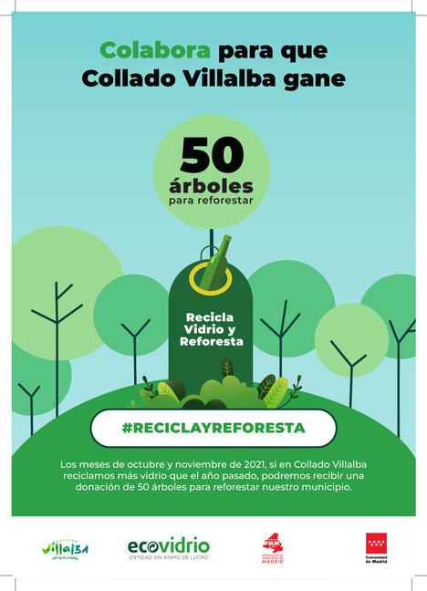 La campaña 'Reciclo y Reforesto' de Ecovidrio llega este viernes a Collado Villalba