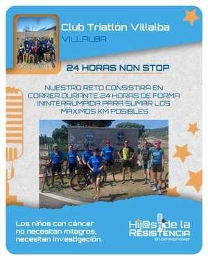 24 horas corriendo por relevos en la Dehesa de Collado Villalba para recaudar fondos contra el cáncer infantil
