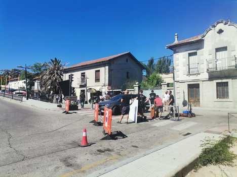 La serie 'Desaparecidos' rueda escenas de su segunda temporada en Collado Villalba