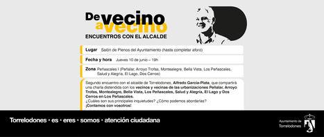 El alcalde de Torrelodones programa nuevos encuentros 'De vecino a vecino' para junio y julio