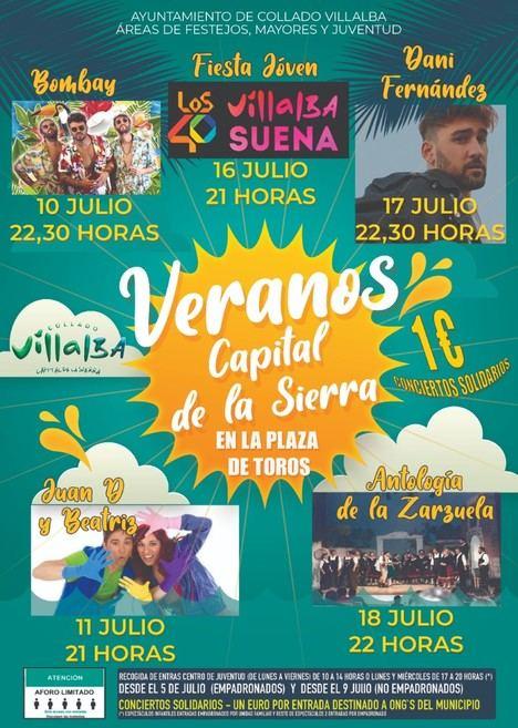 Comienzan los 'Veranos Capital de la Sierra' en Collado Villalba con Bombai y Juan D y Beatriz