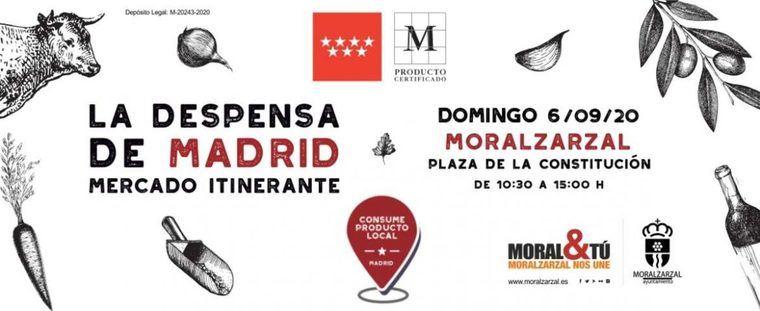 El mercadillo itinerante 'La Despensa de Madrid' llega a Moralzarzal el 6 de septiembre con productos de la región